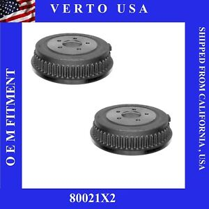 Set Of Rear Drums Fit Chrysler Town Country 1996 2000 2004 2007