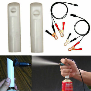 Vehicle Fuel Injector Flush Cleaner Adapter Diy Kit Cleaning Tool With 2 Nozzle