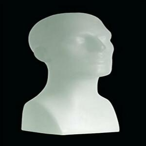 15 Tall Male Mannequin Head Durable Plastic White 50013 Strong Only Mannequ