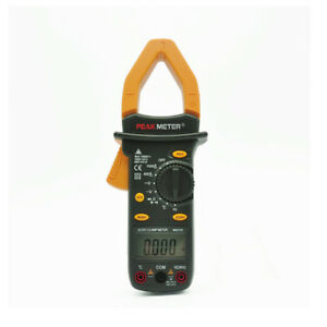 Peakmeter Digital Ac Dc Current Clamp Meter With Temperature Tester Multimetro