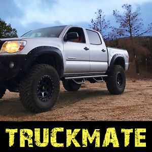 Running Boards Fit 05 21 Toyota Tacoma Crew Double Cab Black Side Step Nerf Bar
