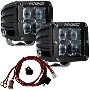 Rigid Industries 504713 Hyperspot D Series Pro Led Lights Pair Of Pods X2 Beams