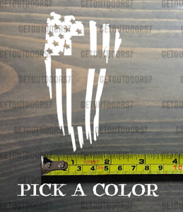 American Flag Cross Sticker Decal Black Die Cut Jesus Christian White Usa 4
