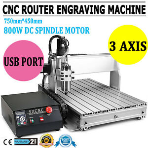 Usb 6040 Cnc Router Engraver Drilling Engraving Carving Machine Ballscrew 3 Axis
