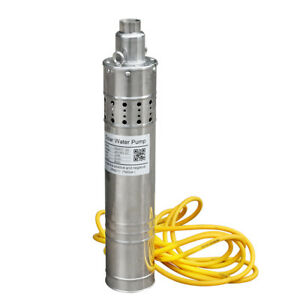 120m 394ft Solar Pump Submersible Deep Well Water Bore Pump 24v For Irrigation