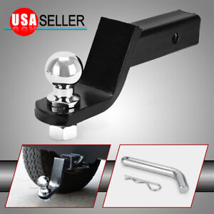 2 Receiver Tow Trailer Hitch 4 Drop 2 Ball 6000lbs Ball Mount W Pin