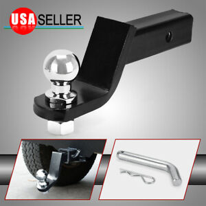 Ball Mount 4 Drop Trailer Hitch 2 Ball Fits 2 Receiver Hitch Pin Tow