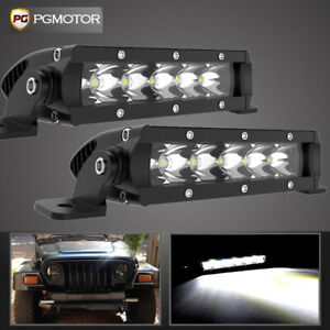 2x 6inch 30w Led Work Light Bar Lamp Offroad Driving Fog Atv Suv Utv 4wd Marine