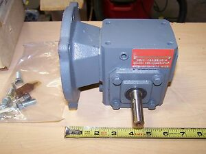 Browning 133q56lr5 Right Angle Worm Gear Speed Reducer Gearbox 5 1 Ratio 1 1 Hp