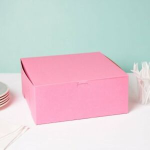 Lot Of 10 Bakery Or Cake Box Pink 12x12x5