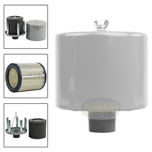 1 5 Inch Air Compressor Intake Filter Silencer Metal Housing Canister U s a