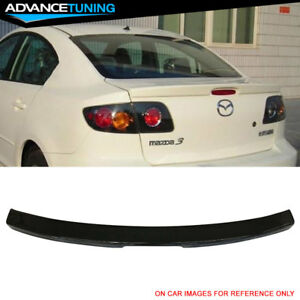 Fits 04 09 Mazda 3 Sedan Factory Trunk Spoiler Oem Painted 16w Black Mica