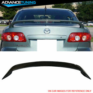 Fits 03 08 Mazda 6 Gg1 Sedan 4 Door Factory Trunk Spoiler Painted Ua Black