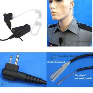Two wire Surveillance Mic For Motorola Cp200 Cp200d Xls Pr400 Ep450 Gtx Gp300