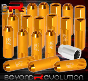 For Toyota 12x1 5 Locking Lug Nuts 20pc Extended Forged Aluminum Tuner Set Gold