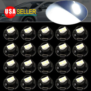 20x Pure White T5 t4 7 Neo Wedge Led Instrument Cluster Panel Dash Light Bulbs