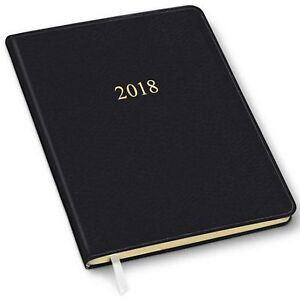 2018 Weekly Large Professional Planner Calendar Black Ostrich