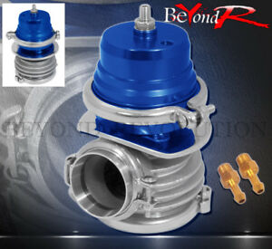 External 50mm V band Clamp Blue Turbo Charger Wastegate Internal Psi Spring