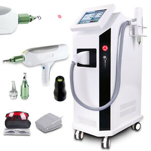 Yag Laser Tattoo Removal Nd Q Switch Pigment Reduction Skin Care Beauty Bd ls Ce
