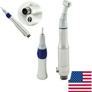 Usa Denshine Dental Slow Low Speed Handpiece Push Button 2 Hole E type