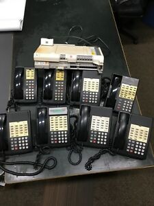 Lucent At t Partner 18 Phone System 8 Phones voice Messaging System Working