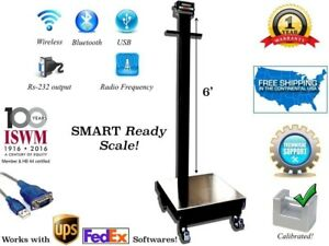 Curb Side Bench Scale With Wheels Portable Warehouse Industrial Platform