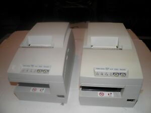 Lot Of 2 Epson Tm u675 M146a Pos Receipt Printer W Journal Slip Validation