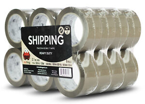 Red Frog 24 Rolls 3 1mil 1 88 x60yds Tan brown Heavy Duty Packaging Packing Tape