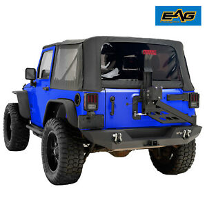 2007 2018 Jeep Wrangler Jk Black Rear Bumper With Tire Carrier Linkage