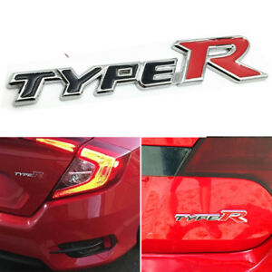 3d Metal Type R Racing Emblem Trunk Badge Decal Sticker For Honda Civic Ek Eg
