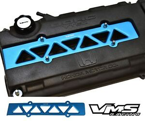 Vms Racing Valve Cover Spark Plug Wire Insert Blue 99 00 Honda Civic B16 Vtec
