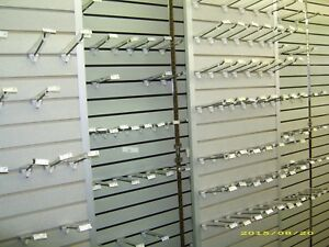 6 Peg Board Hooks 6 Slat Wall Hooks With Clear Fact Tags Price Tag Holder