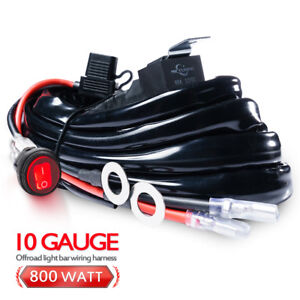 800w Hd wiring Harness Led Light Bar Waterproof Switch W 60amp Relay Fuse 1lead