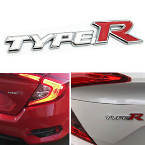 For Honda Type R Emblem White Logo Badge Sicker Civic Accord Trunk New
