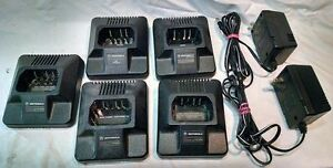 Lot Of 5 Motorola Charger Htn9042a For P1225 Gp300 P110 Gtx800 Gtx900 Gp350 Used