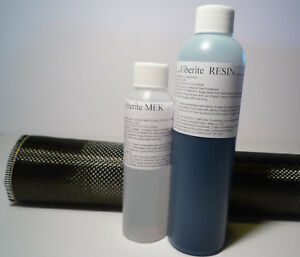 The Only Real Carbon Fiber Cloth Plain Weave 11 x50 Kit And 12oz Epoxy Resin