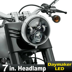 7 Motorcycle Projector Daymaker Led Light Bulb Headlight For Harley Touring New