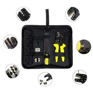 Jx d4 Cable Wire Terminal Crimper Ratcheting Crimping Plier Tool Kit Set Gw