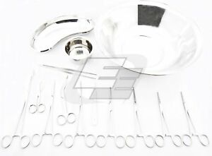 Basic Delivery Set Of 16 Pieces Surgical Instruments German Quality