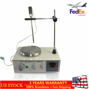Magnetic Stirrer With Heating Plate Hotplate Mixer 110v Digital Display 2000ml
