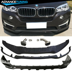 Fits 14 17 Bmw F15 X5 Mp Style Front Rear Kits Muffler Tips