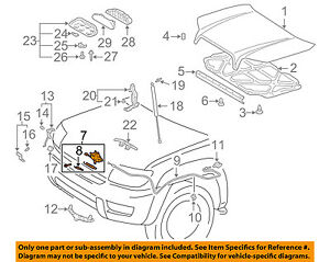 Toyota Oem Hood lock Latch 5351060171