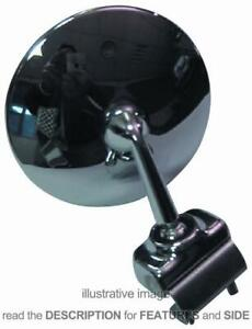 Side Mirror Universal For Car Round Chromed Right Or Left Side