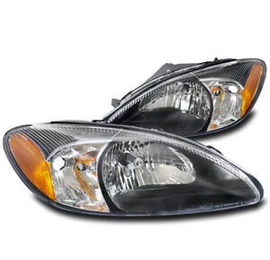 For 2000 2007 Ford Taurus Replacement Oe Style Black Headlight Headlamp Pair Set