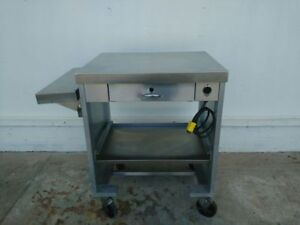 Servo Lift 503 1r Cashier Stand Stainless Steel On Casters 1433