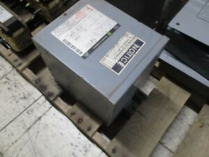Square D Sorgel Type S Phase Insulated Transformer 7s40f 7 5kva 3r Encl Used