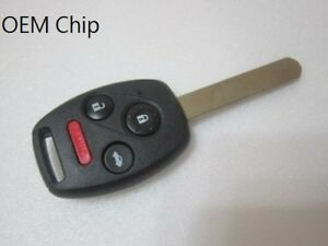 New Honda 2003 2007 Accord Fit Key Oem Chip Remote Fob Ka3