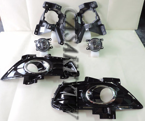 Front Fog Light Lamp Cover Bracket Kit Oem New 2013 2015 Ford Fusion Mondeo
