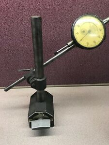 Vintage Federal Products Magnetic Heavy Duty Base Stand Dial Test Indicator