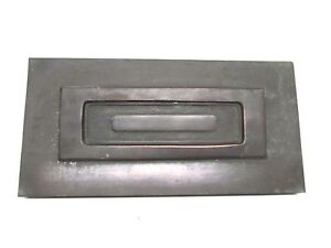 Vintage Solid Brass Hinged Mail Slot 2 Piece Overall 13 1 2 X 6 3 4